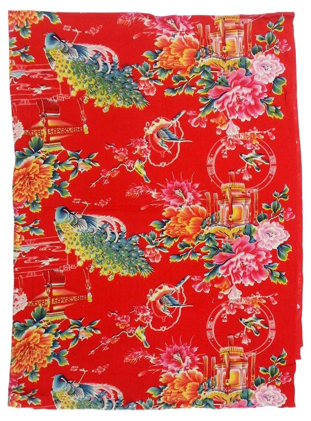 1950s Floral Textile