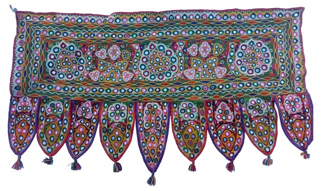 Embroidered Tribal Door Hanging