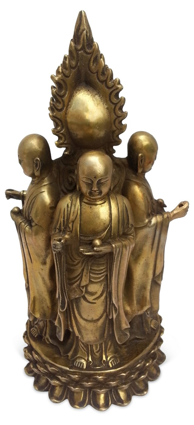Bronze Buddist Alter Deity