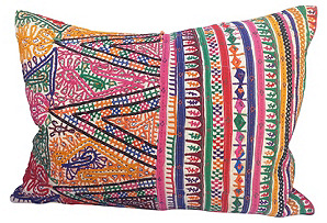 Embroidered Camel Sack Pillow