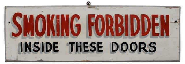 Smoking Forbidden Sign