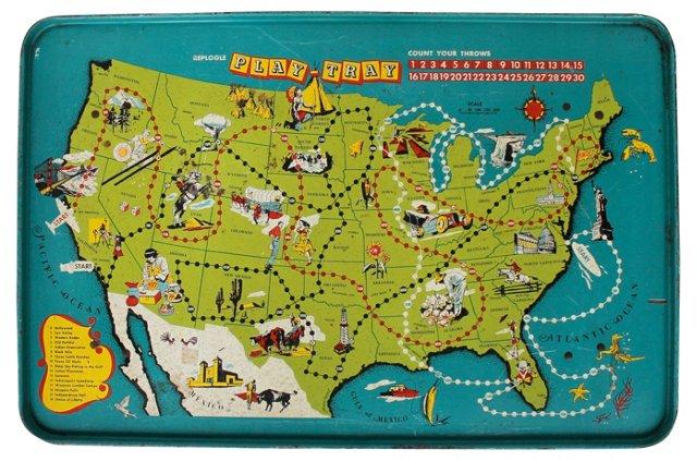 Child's USA Play Tray