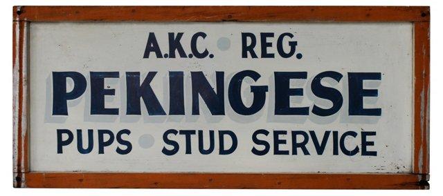 AKC Pekingese Kennel Sign