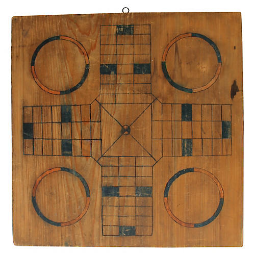 Parcheesi Gameboard, C. 1900