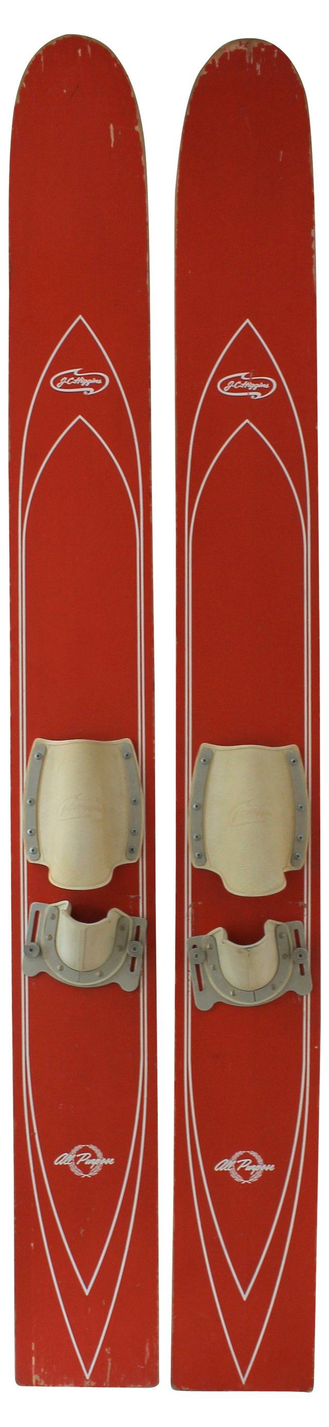 J.C. Higgins Water Skis, Pair
