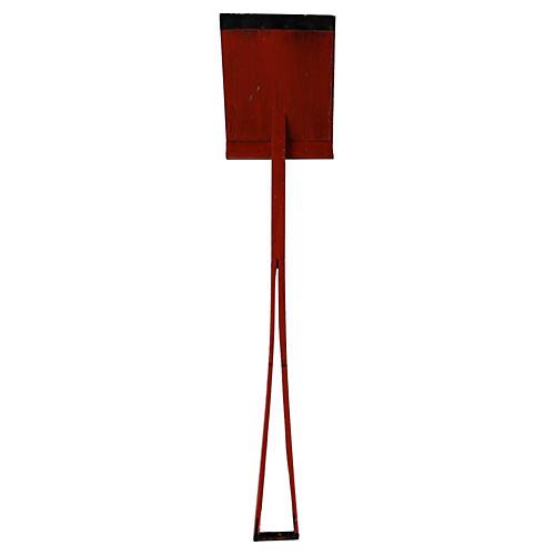 Red/Black Wood Shovel