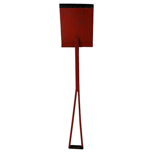 Red Child's Wood Shovel