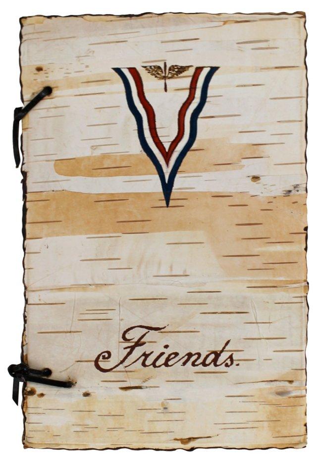 1940s Birchbark  Friends Book