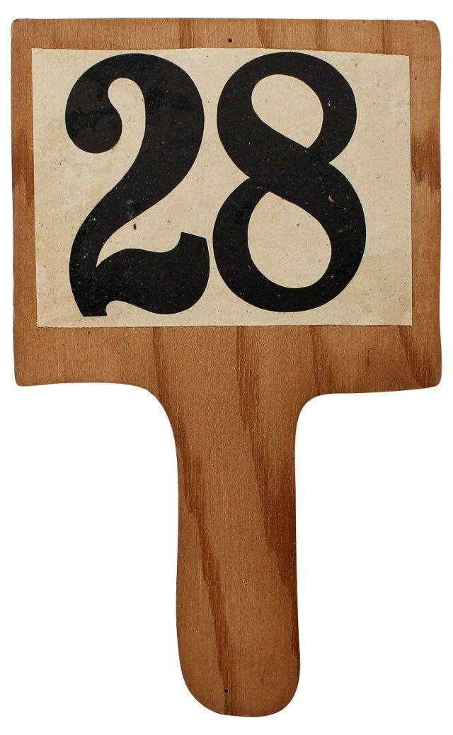 Bidding Paddle #28