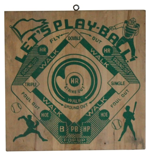 Let's Play Ball Dartboard