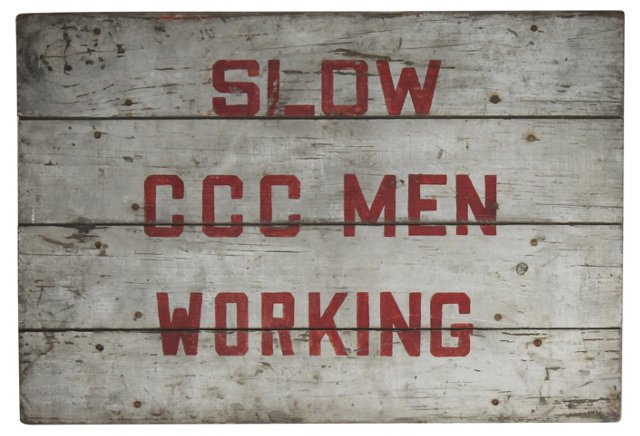 CCC Men Working Sign