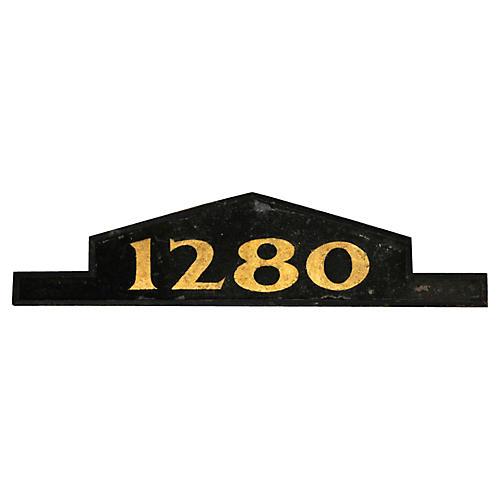 1280 House Number Pediment