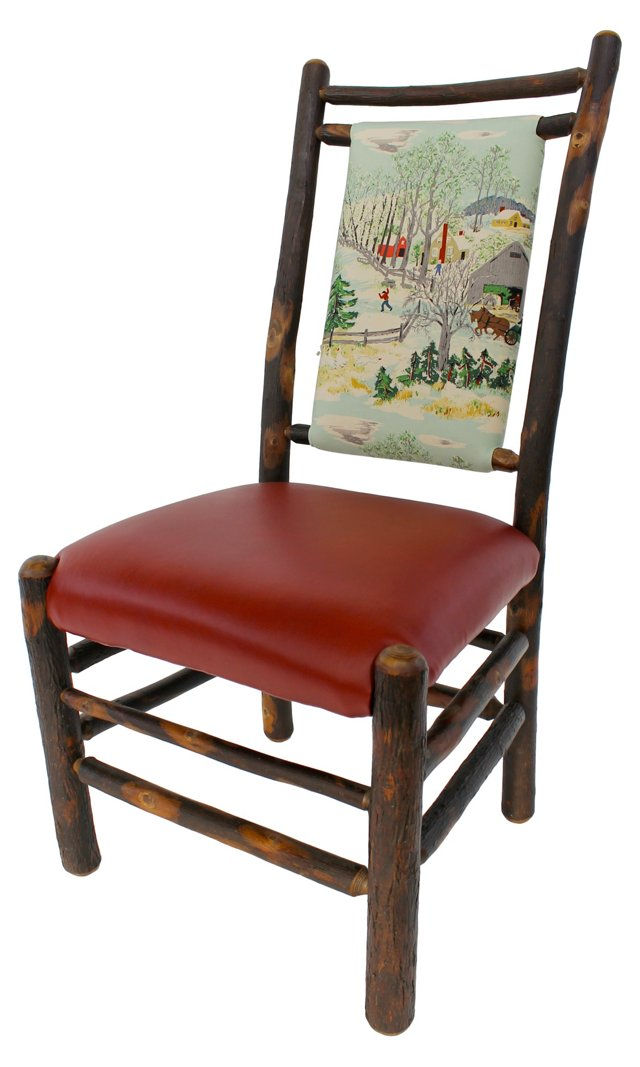 Hickory Chair w/ Winter Scene