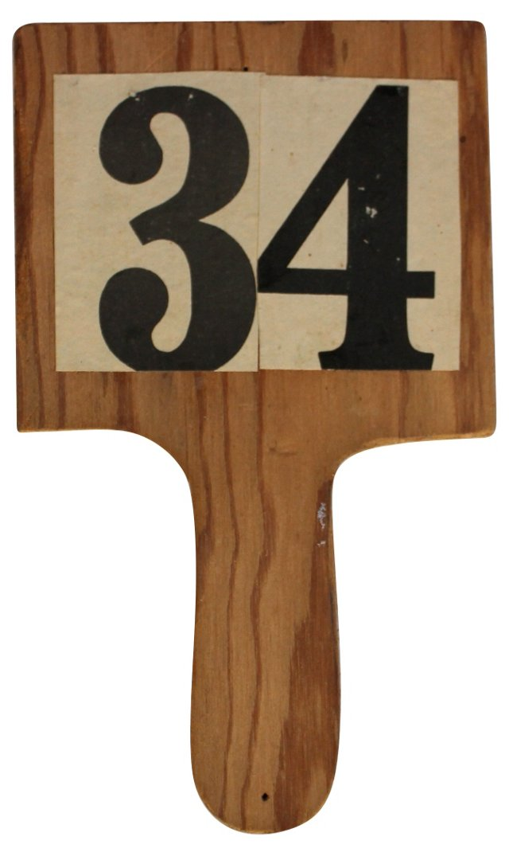 Bidding Paddle, #34