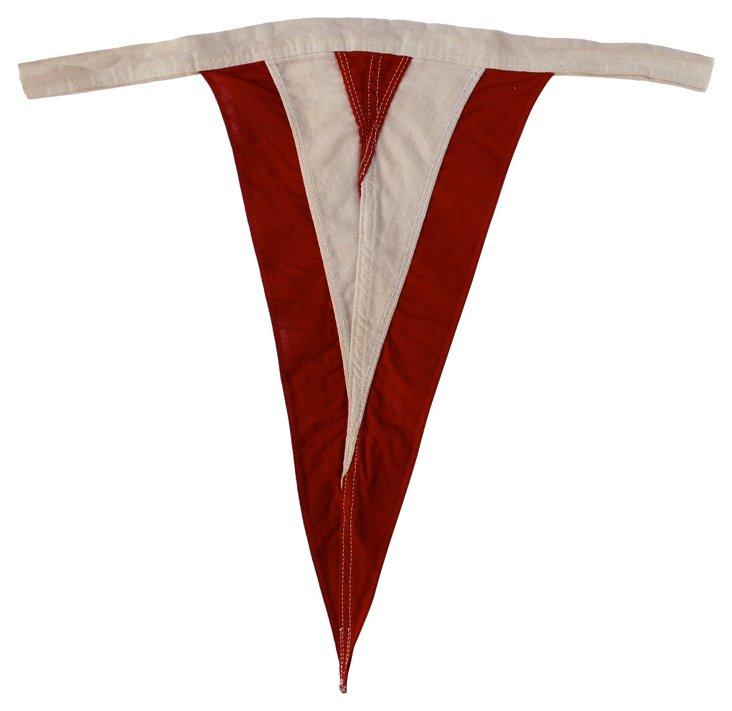Red & White Nautical Flag