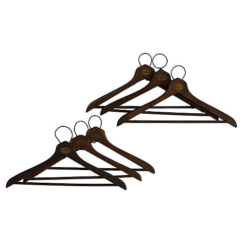 Coatroom Numbered Hangers, S/6
