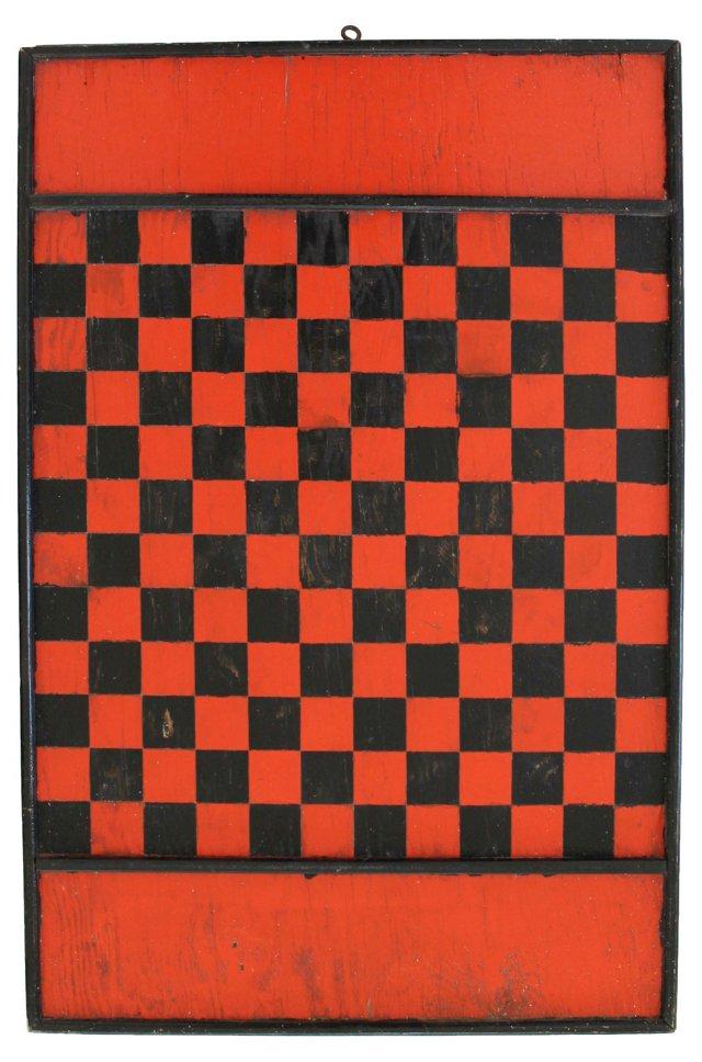 Black & Red Checkerboard