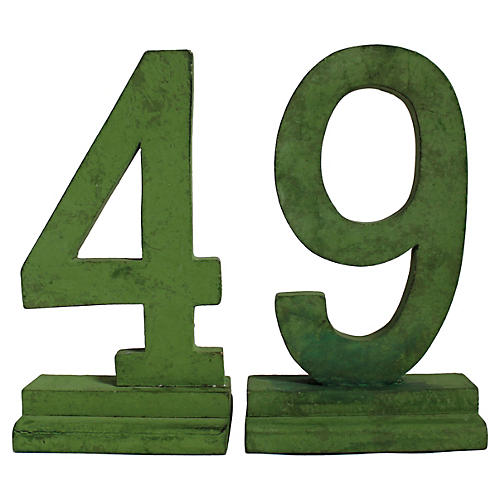 49 Number Set, 2 Pcs