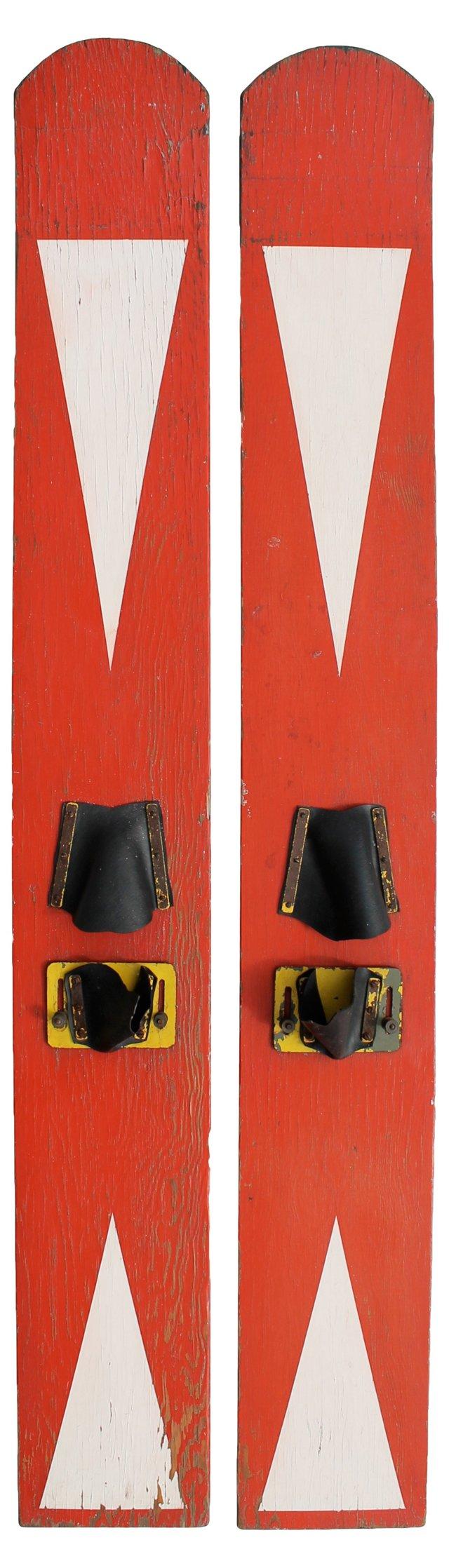 Vintage Water Skis, Pair