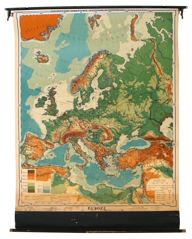 Map of Europe, 1938