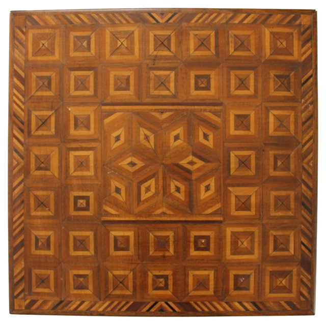 Tumbling Blocks Marquetry Game Board