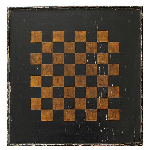 Black & Gold Checkerboard