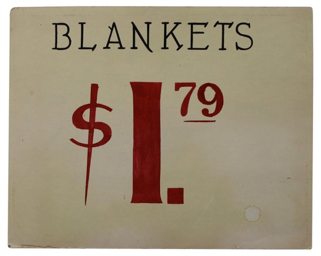 Blankets Sign