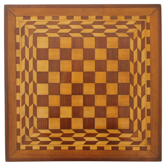 Wood Inlaid Checkerboard