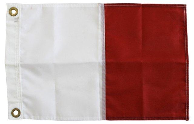 Nautical Signal Flag, Letter H