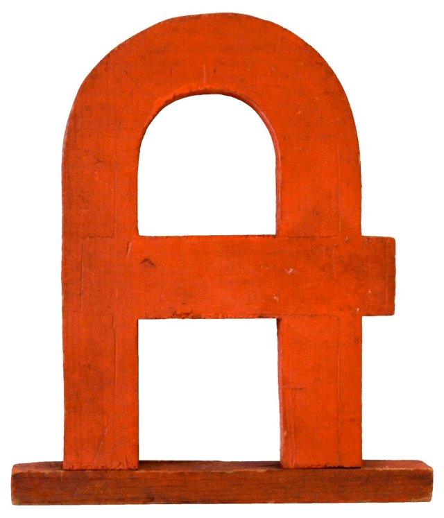 Art Deco Letter A