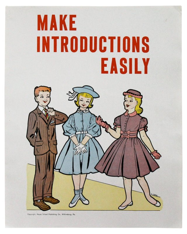Make Introductions Easily Poster