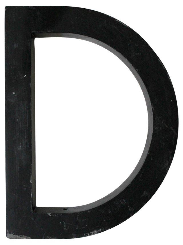 Aluminum Letter D