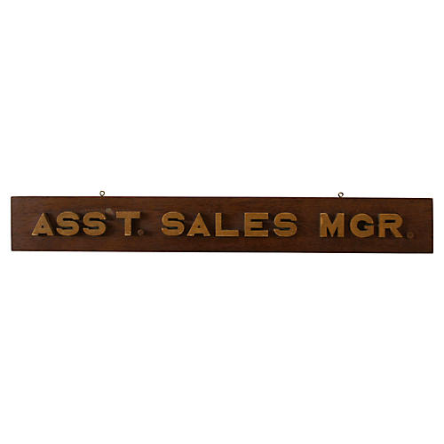 Assistant Sales Manager Sign