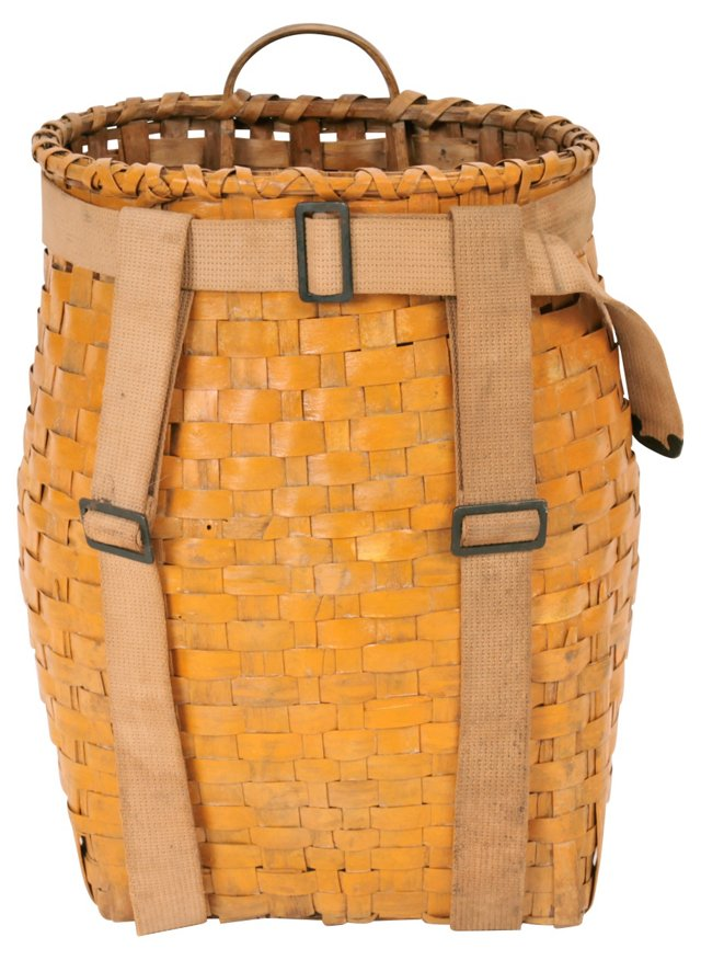 Yellow Painted Pack Basket