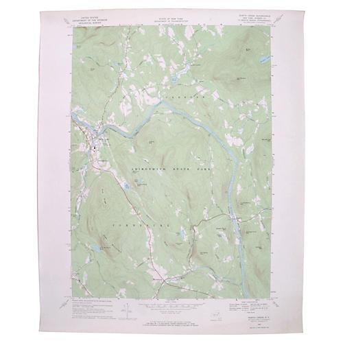 North Creek, New York Map, 1968