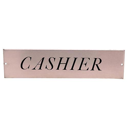 Cashier Sign