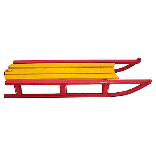Red & Yellow Sled