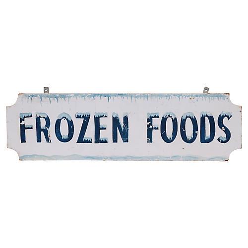 Frozen Foods Sign
