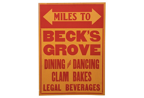 Beck's Grove  Sign