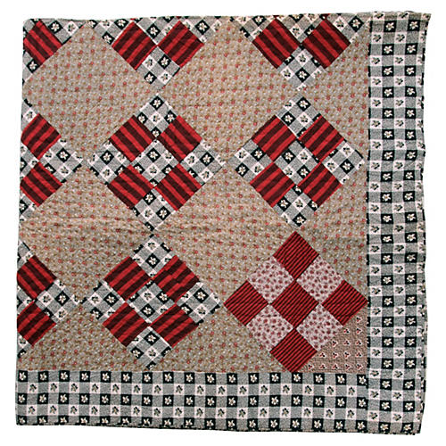 Nine Patch Patterened Quilt