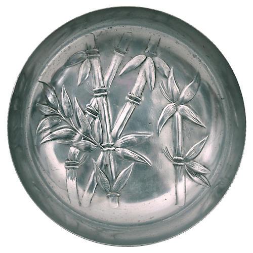Bamboo-Motif Aluminum Bowl
