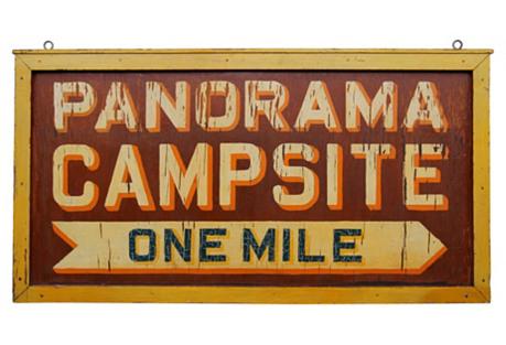 Panorama Campsite Sign