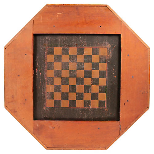 Octagonal Checkers Game Board