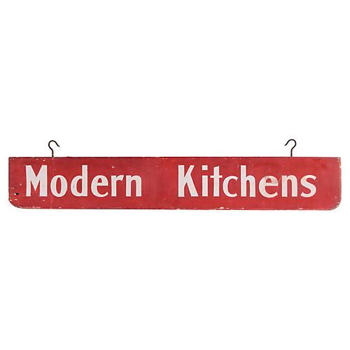 Modern Kitchens Sign