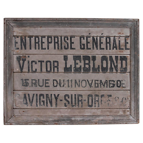 French General Contractor Sign