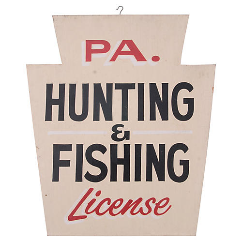 PA Hunting & Fishing License Sign