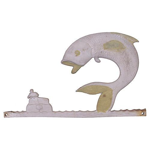 Fishing Motif Plaque
