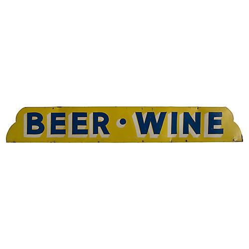 Beer Wine Sign