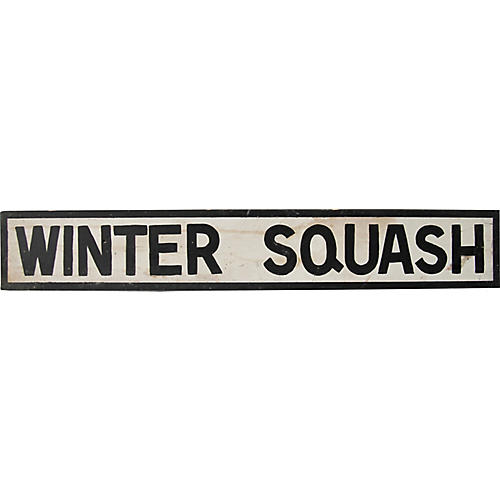 Winter Squash Sign