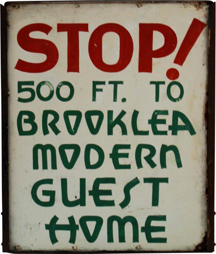 Modern Guest Home Sign